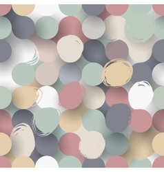 Seamless flat circle background vector image