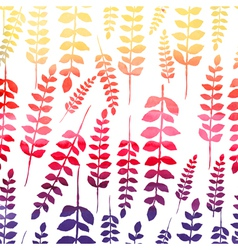 Seamless watercolor floral pattern vector image