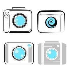 Set of Digital Camera Icons vector image