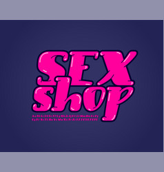 Sexy rounded font trendy beautiful alphabet vector
