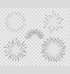 silhouette explosion fireworks vector image