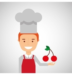 Silhouette head with tasty fruit icon graphic vector