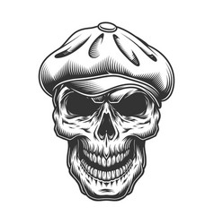 Skull in the tweed hat vector