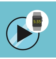 Smart watch technology with video player vector