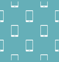 smartphone pattern seamless blue vector image