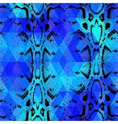 Snake skin texture with colored rhombus vector