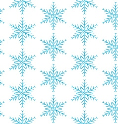 Snowflakes on blue background vector