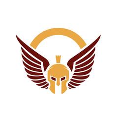 Spartan logo design vector