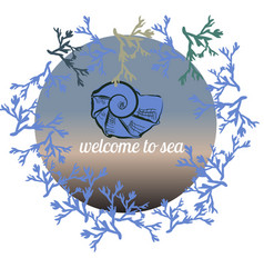 summer hand drawn template made on blue vector image