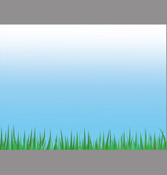 tall grass leaves stripe on blue sky easter vector image