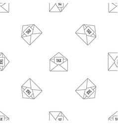 tax email pattern seamless vector image