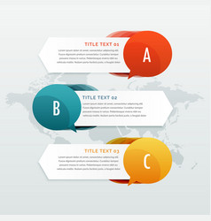 three steps options infographic web banners vector image