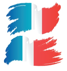 Waving Brush Stroke Flag of France vector image