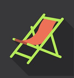 Wooden beach chaise longue isolated on background vector