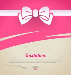 Abstract elegant design with paper bow vector image vector image