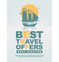best travel offers vector image vector image