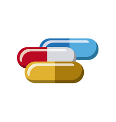 color capsules treatment icon vector image