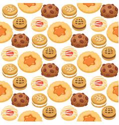 cookie cakes top view sweet homemade breakfast vector image vector image