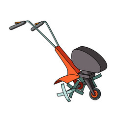 Mowers for cutting grass and lawn agricultural vector