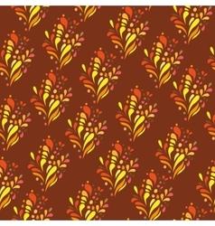 Orange ornament - seamless pattern dudling vector image vector image