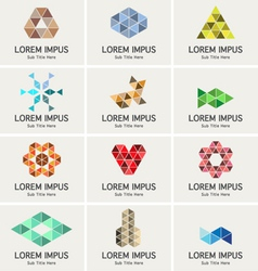 Triangle symbols such as logo vector image vector image