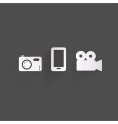 Background with photo icons vector image