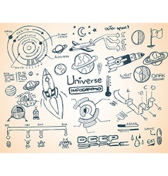 Universe Infographics vector image vector image