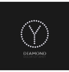 Y letter with diamonds vector image vector image