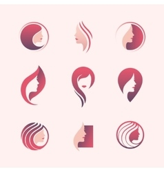 Beauty salon logo set vector image vector image