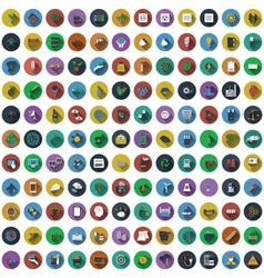 Big set of circle flat design icons Big set of vector image vector image