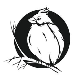 bird on branch vector image vector image