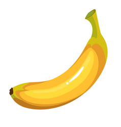 cartoon yellow banana vector image