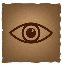 Eye sign Vintage effect vector image