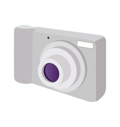 Modern camera cartoon icon vector image