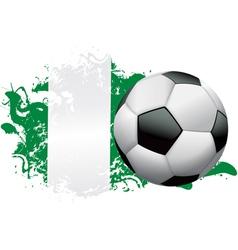 Nigeria Soccer Grunge vector image vector image