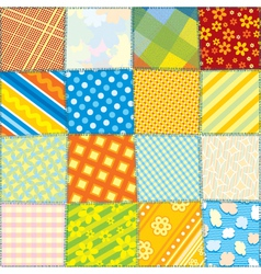 Seamless Fabric Texture vector image