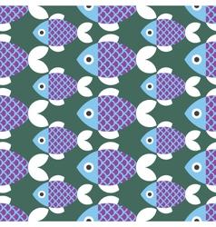 Seamless Fish Pattern Animal vector image vector image