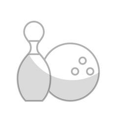 shadow pin and ball cartoon vector image
