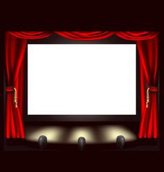 Cinema screen vector