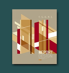 Cover Magazine Abstract buildings brown background vector image vector image