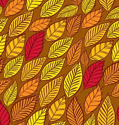 Floral seamless pattern autumn leaves seamless vector image