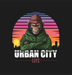 Angry urban monkey vector