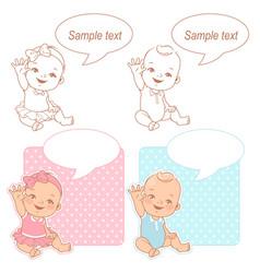 baby shower set vector image