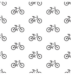 bicycle seamless pattern black vector image