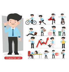 businessman cartoon character design with vector image
