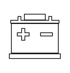 car battery black color icon vector image