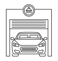Car wash garage icon outline style vector