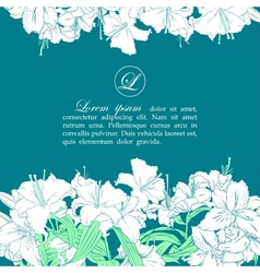 Card template with white lilies vector