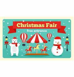christmas fair tale banner flat style vector image