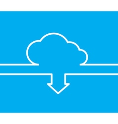 Cloud with white lines and arrows with the same vector